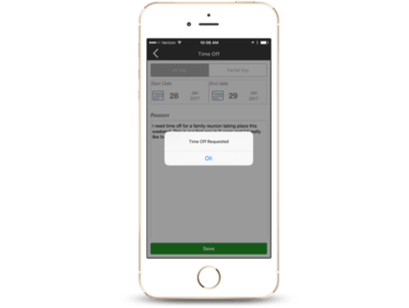 mobile access to employee scheduling needs